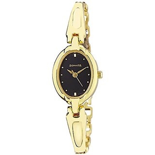 Sonata Analog Black Dial Womens Watch - ND8048YM03