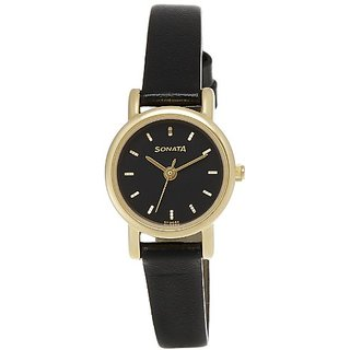 Sonata Analog Black Dial Womens Watch - NF8976YL03J