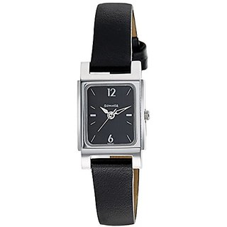 Sonata Essentials Analog Black Dial Womens Watch-87021SL01