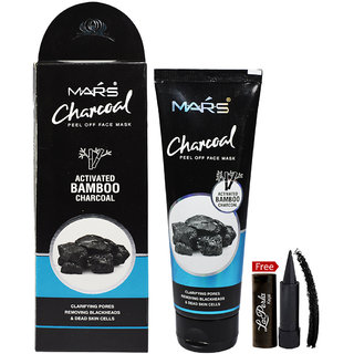 Mars Bamboo Charcoal Activated Pill Off Face Mask 130ml