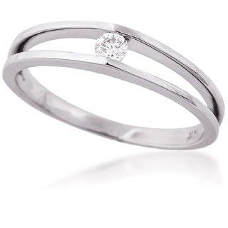 SILVERISH 92.5 Silver Ring Cubic Zirconia Rhodium Plated Silver Ring SIVSR0073-P