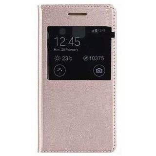 BeingStylish Synthetic Flip Cover For Samsung Galaxy A8 - Golden