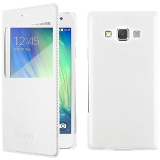 Samsung Galaxy A7 Flip Cover by BeingStylish - White