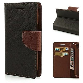 Samsung Galaxy J7 Nxt Flip Cover by BeingStylish - Brown