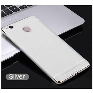 Redmi 4 Plain Cases BeingStylish - Silver