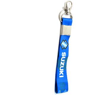 Premium Quality Fabric Blue SUZUKI Bike Logo Hook Key Chain for SUZUKI Lover