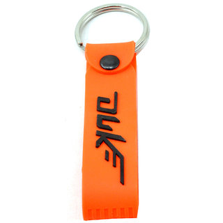 KTM Duke Double Sided Bike Logo Orange Silicone Hook Key Chain for Bike Lover