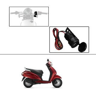 Autonext Circular Waterproof Bike/Motorcyle USB Charger USB Mobile Charger For  Yamaha RX 100