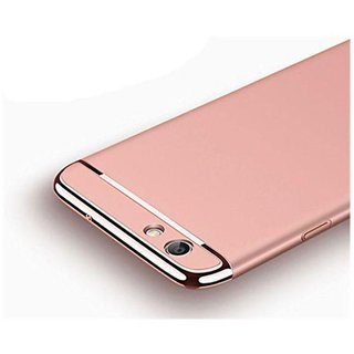 Oppo F3 Dual Selfie Camera Plain Cases Worth IT - Rose Gold