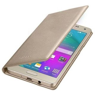 Samsung Galaxy J7 Prime Flip Cover by Cel - Golden