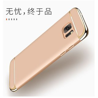 Samsung Galaxy J7 Prime Cover by Click n PICK - Golden