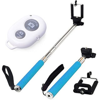 Monopod Selfie Stick With BLUTOOTH SHUTTER and Mobile Clamp