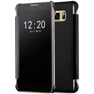 Samsung J7 Max Flip Cover by BeingStylish - Black