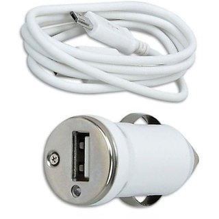 Snehi Car Mobile Charger sn2.1 White (Car Make: All Car Makes, Car Model: All Car Models, Color: White)