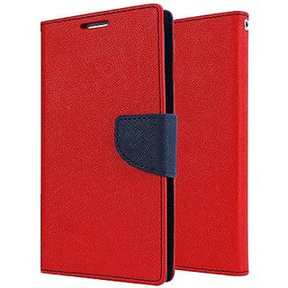 Samsung Galaxy J7 NXT Flip Cover by Mercury - Red