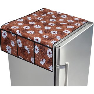 Dream Care PVC Printed fridge/Refrigerator top cover with 6 pocket