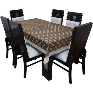 Dream Care Designer  Waterproof Dining Table Cover 6 Seater 60x90 Inches SAMS40