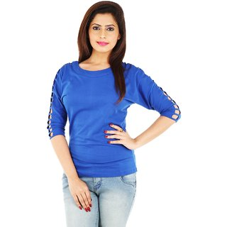 17178190f25b9 Buy Romile party wear fancy Blue color top Online - Get 65% Off