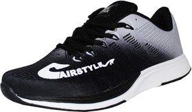 Max Air Sports Men's Running Sports Shoes Black Grey M4