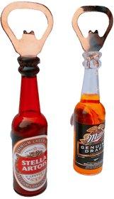 Bottle Opener With Fridge Magnet Set Of 2 By Si Enterpr