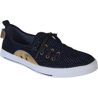 Shoebook Party Wear Sneakers Black Casual Shoes