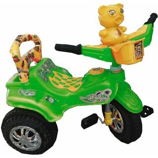 Oh Baby Baby Duck Shape Music With Full Plastic Body Green Color Tricycle For Your Kids SE-TC-17