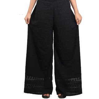 Free size Palazzo -Cotton pant for women chicken embroidery Palazzo