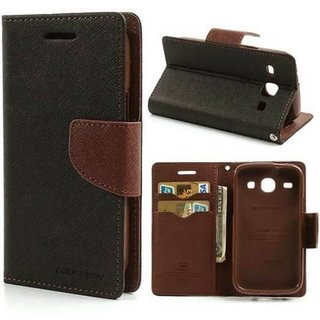 Oppo F1s Flip Cover by Cel - Brown