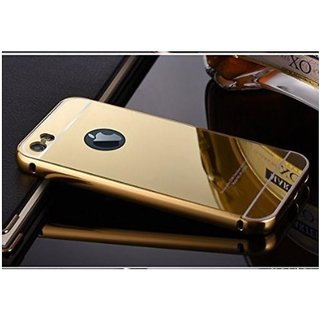 ACCWORLD Luxury Aluminium Metal Bumper with Mirror Acrylic Back Cover For Iphone 5c (Gold)