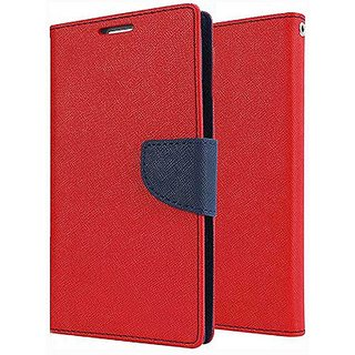 Moblo Flip Cover For Lenovo A 7000 - Red