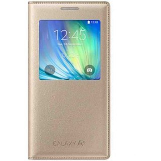 Samsung Galaxy A5 Flip Cover by Samsung - Golden