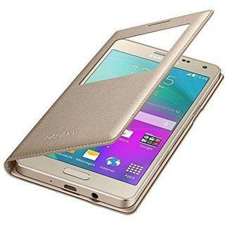 Samsung Galaxy A9 Pro Flip Cover by ELICA - Golden