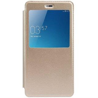 Samsung Galaxy A9 Pro Flip Cover by Celzo - Golden
