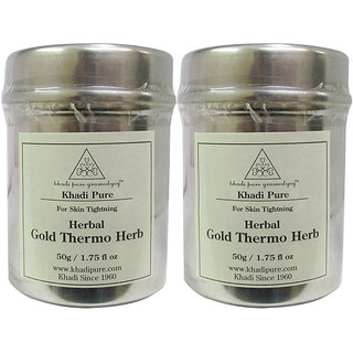 Khadi Pure Herbal Gold Thermo Herb - 50g (Set of 2)