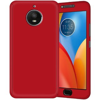 Wondrous 360 Degree Protection Front & Back Matte Finish Case (Ipaky Style) suitable for Motorola Moto E4 Plus - Red