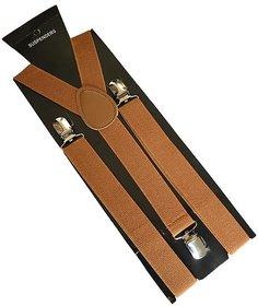 Sunshopping unisex light brown stretchable suspender