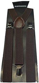 Sunshopping unisex dark brown stretchable suspender