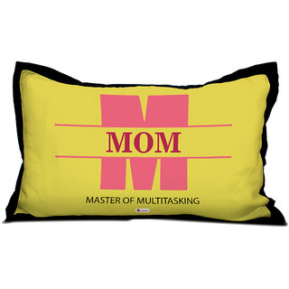 Indigifts Mother Birthday Gift Pillow Cover Satin Yellow 27x17 Inch