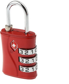 3 Digit Security luggage Padlock Best For International Travelling Multi Color -TSA554