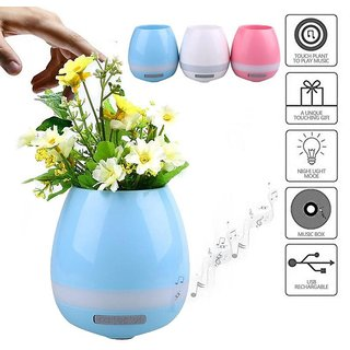 GR CREATIVE BOX  Smart Flower Pot With Bluetooth Speaker And LED