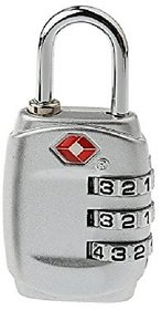 3 Digit Security luggage Padlock Best For International Travelling Multi Color -TSA331