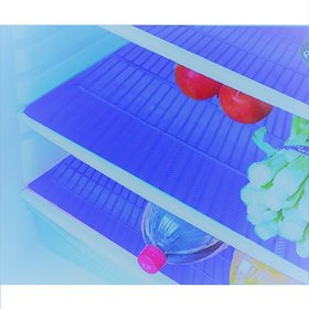 E-Retailer Plastic Fridge Mat/Refrigerator Drawer Mat/ Place Mat Set of 3 Pcs (13x19 Inch) Multi Purpose Use(Blue)