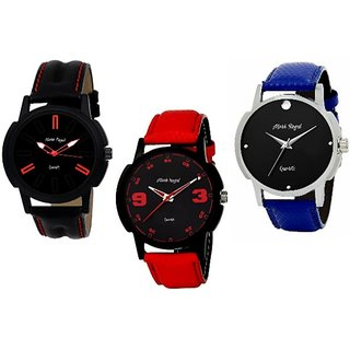 Mark Regal Combo of 3 Analogue Multicolor Dial Mens Watches-Combos