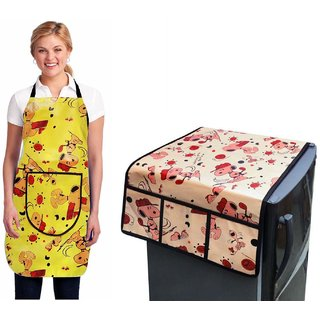 Stylish Design Fridge Top Cover with Apron (pack of 2) L-01