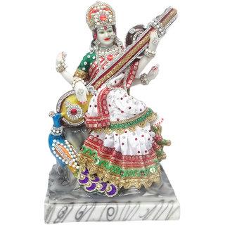 Paras Magic Sarasswati Mata Idol with Peacock
