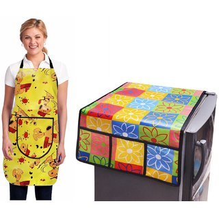Stylish Design Fridge Top Cover with Apron (pack of 2) L-08