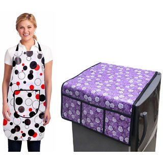 Stylish Design Fridge Top Cover with Apron (pack of 2) S-05