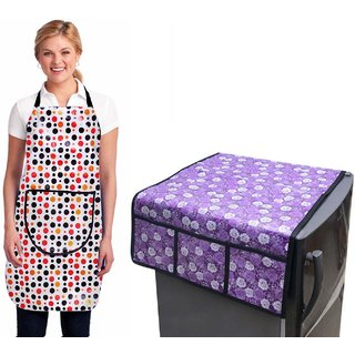 Stylish Design Fridge Top Cover with Apron (pack of 2) T-07