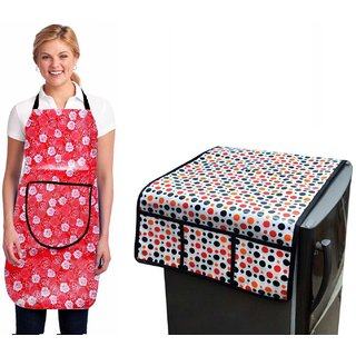 Stylish Design Fridge Top Cover with Apron (pack of 2) Z-05
