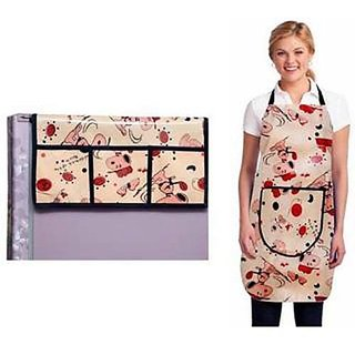 Stylish Design Fridge Top Cover with Apron (pack of 2) A-1